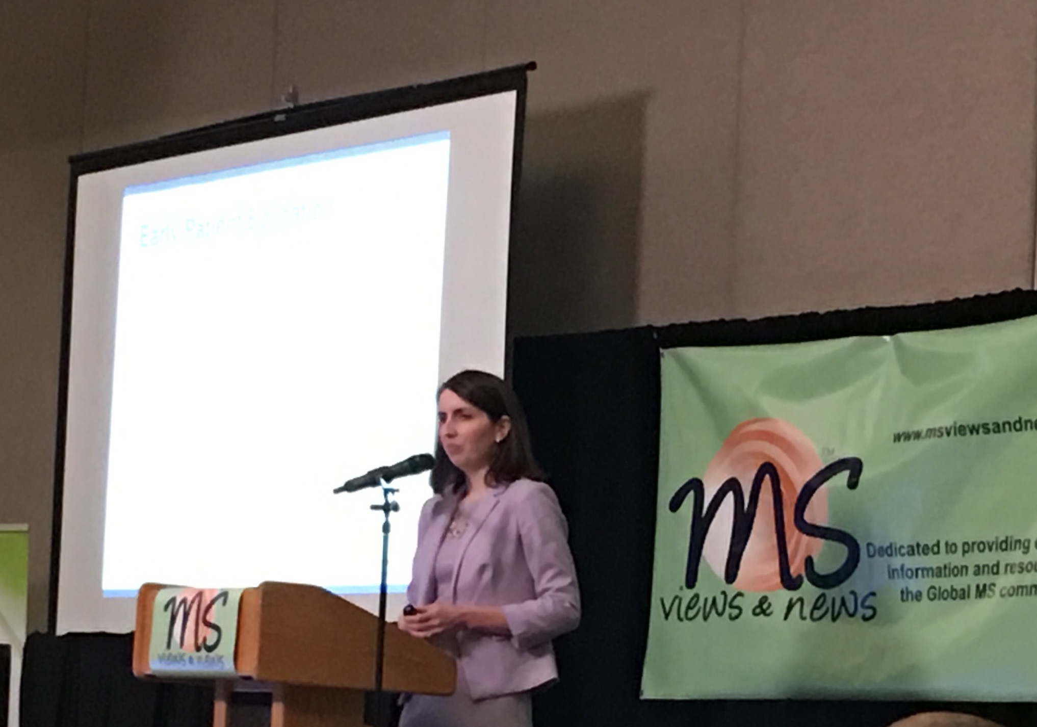 Dr. Jacqueline Nicholas speaking on Women's Issues in MS